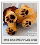 Leo the Steiff Lion's Paws